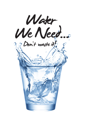 Water We Need. Don't Waste it!